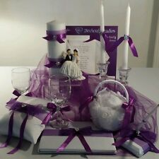 Wedding Ceremony Set-with Free Garter (Many Set Colors Available)