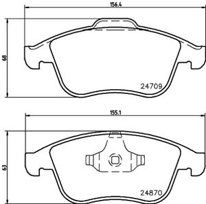 Hella Pagid Front Brake Pads T1895 fits Renault LATITUDE X43 3.5 V6