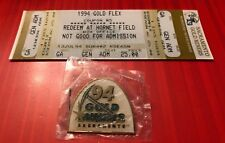 Rare CFL Sacramento Gold Miners Pin And Commemorative Gold Flex Ticket Lot