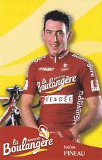 CYCLISME carte cycliste JEROME PINEAU équipe LA BOULANGERE 2003