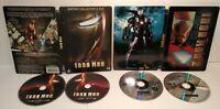 IRON MAN 1 & 2 Lot 2 DVD Steelbook - PAL Zone 2 - Complet - Très bon état