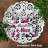 Much Loved Niece * DecoWords Mini Sign Everyday Ornament USA Gift New in Pkg