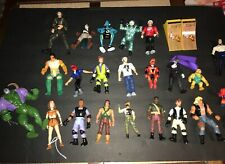 Vintage 1990's Mixed Action Figure Toy Lot GI Joe Marvel Ghost Buster's