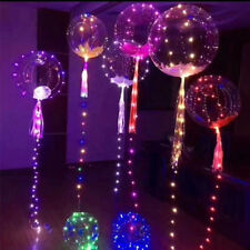 2X 30 LED Colorfull Bobo Balloon  Wedding Birthday Xmas New Year Party Lights UK