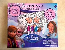 DISNEY FROZEN COLOR N STYLE FASHION PURSE WITH MARKERS ELSA & ANNA - NEW