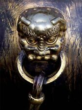 ART PRINT POSTER PHOTO CULTURE ITEM CHINESE IMPERIAL BRASS DOOR KNOCKER LFMP1183