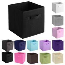 1-6PCS Simple Storage Box Bag Non-Woven Fabric Folding Case Colorful Home USA