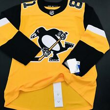 Adidas Authentic Pittsburgh Penguins HOME Kessel FIGHT STRAP Jersey sz 46 (458)