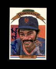 George Foster Signed 1983 Diamond Kings New York Mets Autograph