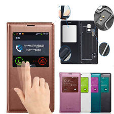 Luxury S view Aperture Wake/Sleep PU leather Case Cover For Samsung Galaxy S5