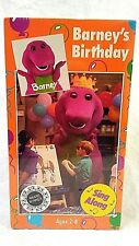 Vtg 90s VHS Barney Birthday Sing Along Purple Dinosaur Barney & Friends Lyon New