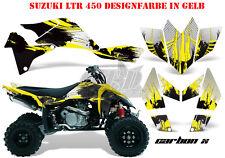 Amr racing décor Graphic Kit ATV suzuki ltr 450 Lt-r carbone-x B