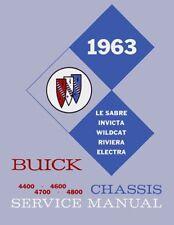1963 Buick Electra Invicta Lesabre Riviera Shop Service Repair Manual Book OEM
