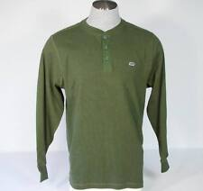 Ecko Unltd Green Long Sleeve Henley Knit Polo Shirt Mens NWT
