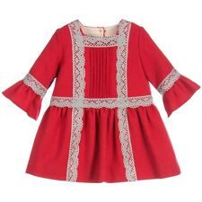 NANOS BABY RED WOOL DRESS 24 MONTHS