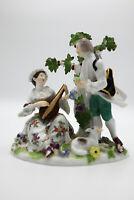 Antike Meissen Figur um 1850 musizierendes Liebespaar - Knaufzeit 1. Wahl