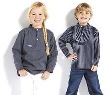 modAs 0820 Kinder Fischerhemd breiter & schmaler Streifen 80 - 176