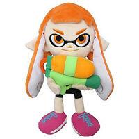 """Official Sanei Splatoon 9"""" Female Inkling Plush Toy Octolings Shooter Girl Gift"""