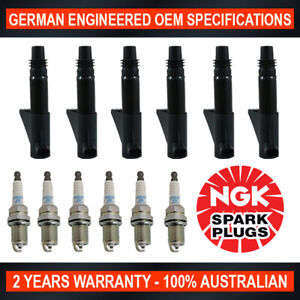 6x NGK Spark Plugs & 6x Swan Ignition Coils for Renault Laguna 3.0L Z7X