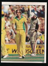 1983 Scanlens Cricket Sticker unused number 134 Dennis Lillee