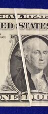 1963 Frn One Dollar Error Gutter Fold Crisp Paper $1 J Kansas City Federal Note