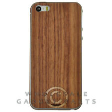 Toast Apple iPhone 5/5S/i5S Real Wood Stick-On Cover Combo Pack Plain Walnut