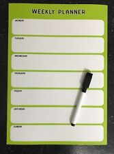 A4 Fully Magnetic Weekly Planner / To Do List  with FREE dry erase magnetic pen!