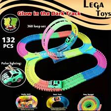 Glow race track Flexible Assembly Track Spinning 360 stunt Loop Colorful bright