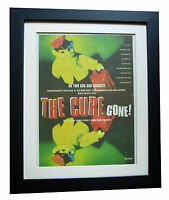 THE CURE+Gone+TOUR+POSTER+AD+RARE ORIGINAL 1996+QUALITY FRAMED+FAST GLOBAL SHIP