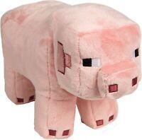"Mojang Minecraft Pig 12"" Plush Stuffed Toy Jinx Pink Gen 1 NEW Soft Plushy"