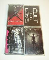 Lot of 4 80s Hair Metal Rock Cassette Tapes The Cult, Ministry, Y & T