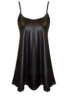 Ladies Womens Cami Strappy Print Swing Dress Flared Vest Mini Top Plus Size 8-26
