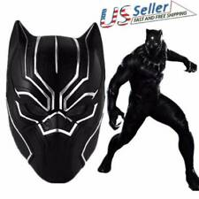 Solid 3D Black Panther Masks Movie Cosplay Men's Latex marvel costume Party Mask