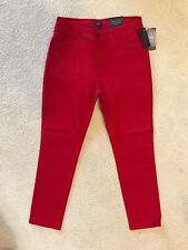 NWT NYDJ Not Your Daughters Jeans CRIMSON RED Legging Sz 14P