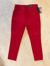 NWT NYDJ Not Your Daughters Jeans CRIMSON RED Legging Sz 8P