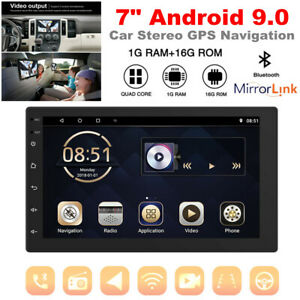 7 Inch Android 9.0 Car Stereo GPS Navigation Radio Player Double Din WIFI 1+16G