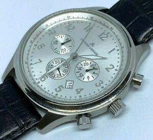 Jacques Lemans Mens 100m Steel Analog Quartz Chronograph Watch Hours~New Battery