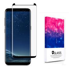 Samsung Galaxy S8 Panzer 3D Schutzglas Curved Glasfolie Displayschutz 9H schwarz