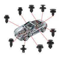 200Pcs Car Auto Plastic Trim Door Panel Retainer Clips Rivet Fastener Flaps Push