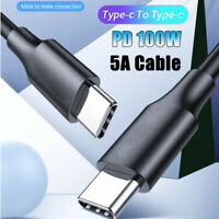 5A 100W USB C to USB Type-C for Huawei Mate 20 P30 Pro PD Fast Charge Data Cable