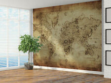 Vintage Distressed World Map Photo Wallpaper Wall Mural XXL 3mx2.4m