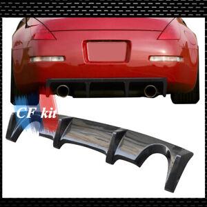 Carbon Fiber Rear Diffuser Lip Spoiler Fits For 2003-2008 Nissan 350Z RWD Z33