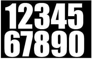 2 Pack Wheelie Bin White Self-Adhesive Stickers Vinyl Numbers 7 inch