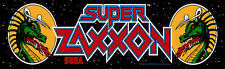 Super Zaxxon Arcade Marquee For Reproduction Header/Backlit Sign