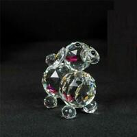 Puppy Dog Crystal Cut &Swarovski Element Inside Base with Gift Box NEW_UK Seller