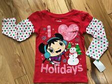 NWT NIHAO KAI-LAN Holiday Long Sleeve Layered Look Top Sz 24 Month Girl