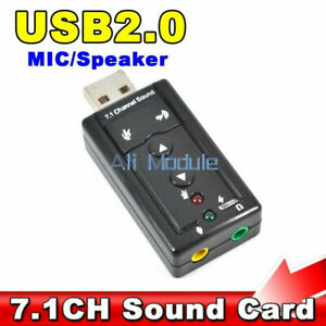 Mini USB 2.0 3d Virtual 480 Mbps External 7.1 Kanal Audio Soundkarte Adapter L