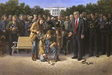 Jon McNaughton YOU ARE NOT FORGOTTEN 16x24 Signed Donald Trump Paper Litho Print