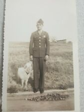 Vintage Soldier With White Dog
