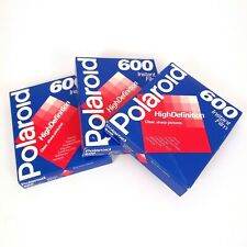 New Polaroid Instant Film 600 Speed 10 exposure Each 30/3 Pack Lot Expired 05/98